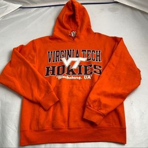 Jerzees orange Virginia Tech Hokies hoodie M